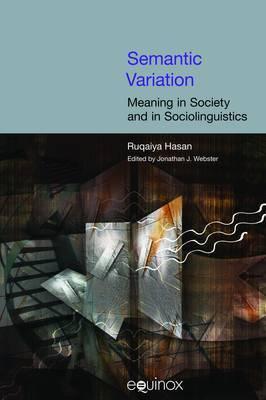 Semantic Variation by Jonathan J Webster