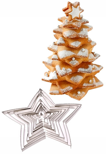Star Christmas Tree Cookie Cutter Set | at Mighty Ape NZ