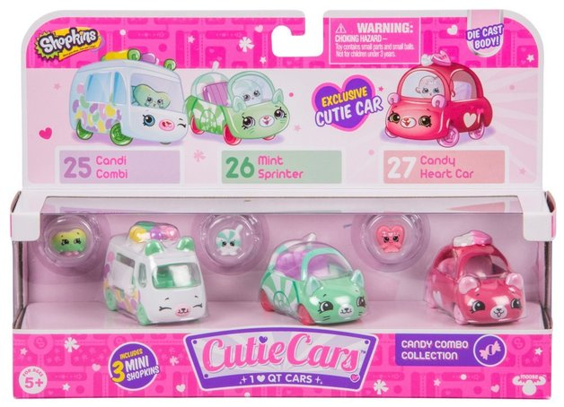 Shopkins: Cutie Cars 3-Pack - Candy Combo