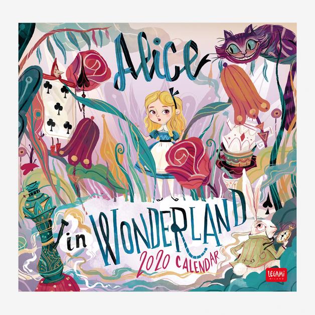 Legami: Alice In Wonderland 2020 Wall Calendar