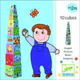 Djeco: 10 Vehicle Stacking Blocks