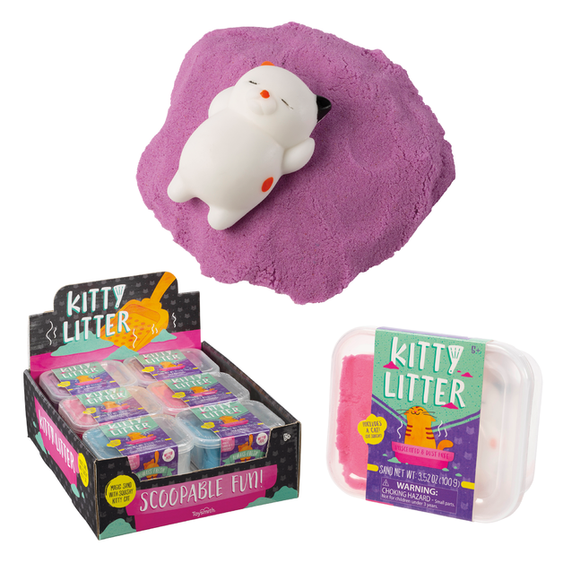 Toysmith: Kitty Litter - Mouldable Sand Set (Assorted Designs)