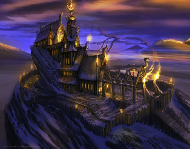 Elder Scrolls: Skyrim - Premium Art Print - Yarl's Hold