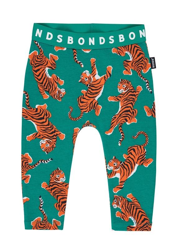 Bonds: Stretchies Leggings - Climbing Tiger Green (Size 2)