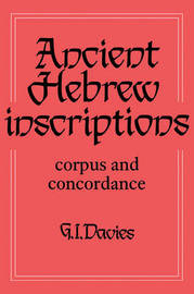 Ancient Hebrew Inscriptions: Volume 1