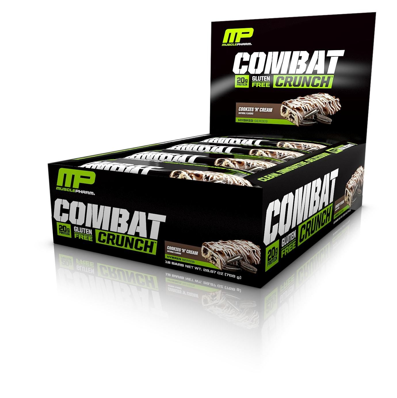 MusclePharm Combat Crunch Bar - Cookies and Cream (12x63g) image
