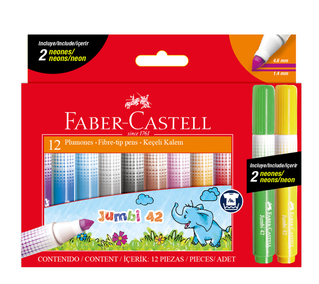 Faber-Castell: Fibre Tip Markers - Box of 12