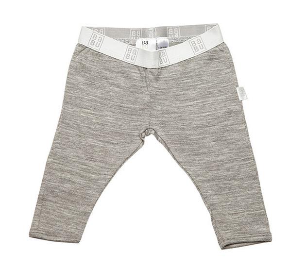 Babu Merino Leggings - Grey Marl (1-2 years)