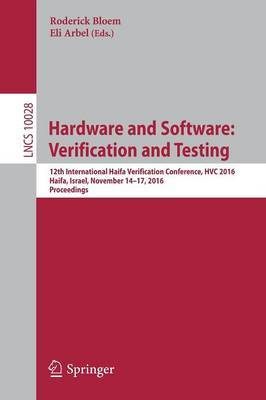 Hardware and Software: Verification and Testing image
