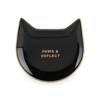 Pinky Up: Paws & Reflect - Black Cat Tea Tray