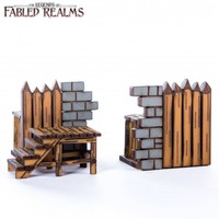 Fabled Realms: Ruined Wall Palisade Connector