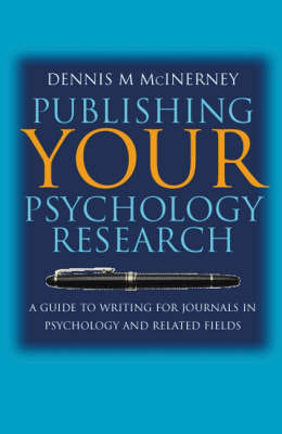 Publishing Your Psychology Research by Dennis Michael McInerney image