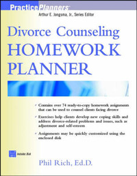 Divorce Counseling Homework Planner by Phil Rich image