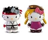Hello Kitty Street Fighter Ryu & Cammy Mini Figure 2 Pack