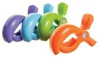 Dreambaby Strollerbuddy Stroller Clips - Blue/Orange/Purple/Green image