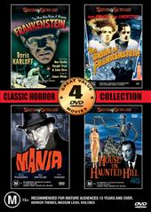 Horror Collection One - Volume One - 4 Movie Box Set (2 Discs) on DVD