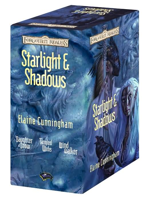 Forgotten Realms: Starlight and Shadows Gift Set -- Daughter of the Drow, Tanlged Webs, Windwalker by Elaine Cunningham image