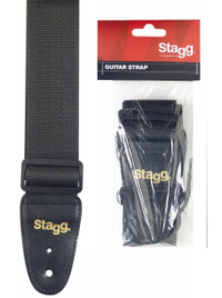 Stagg Nylon Guitar Strap (Black)
