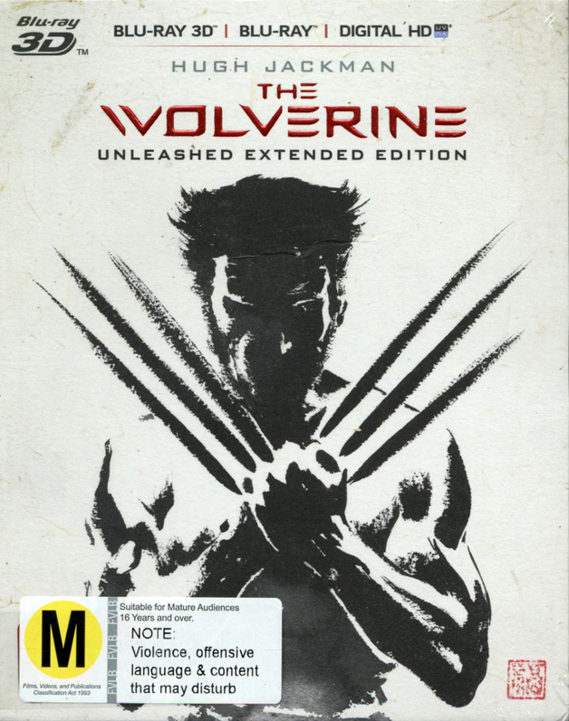 The Wolverine: Unleashed Extended Edition on Blu-ray, 3D Blu-ray