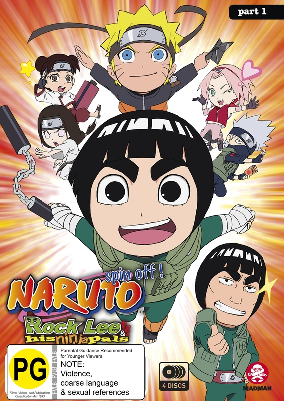 Naruto Spin-off: Rock Lee And His Ninja Pals - Part 1 (Eps 1-26) on DVD