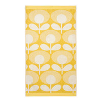 Orla Kiely Speckled Flower Oval Face Towel - Lemon Yellow