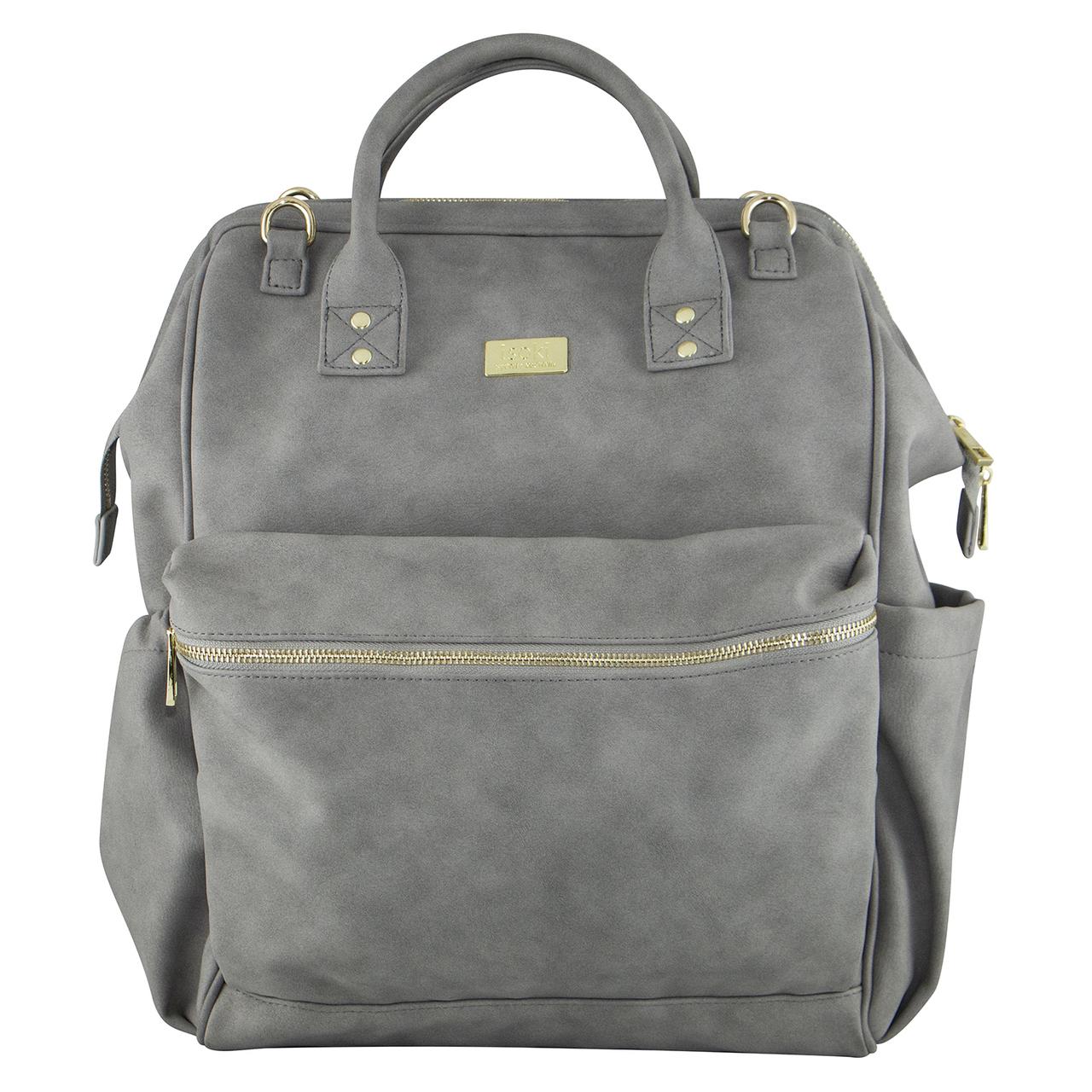 Isoki: Nappy Bag Byron XL Backpack - Stone image