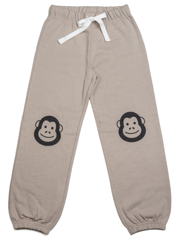 Cheeky Chimp: Print Sweat Pant - Charcoal (Size 8)