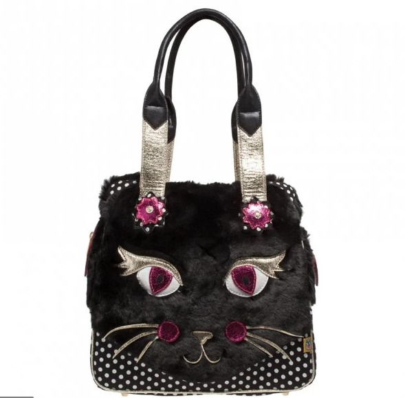 Irregular Choice: Cat Call Handbag - Black