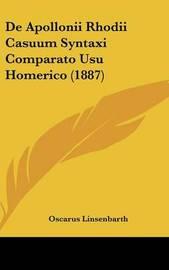 de Apollonii Rhodii Casuum Syntaxi Comparato Usu Homerico (1887) by Oscarus Linsenbarth image