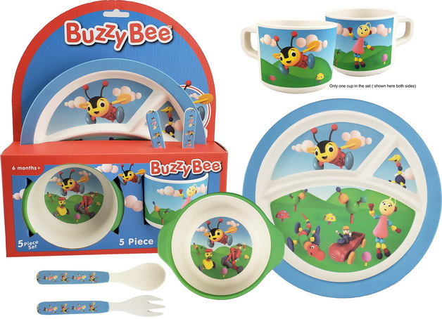 Bamboo Mealtime Set - Buzzy Bee