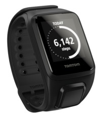 TomTom Spark + Music GPS Fitness Watch - Black (Large) with Headphones