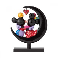 Romero Britto - Mickey & Minnie On Moon Figurine image