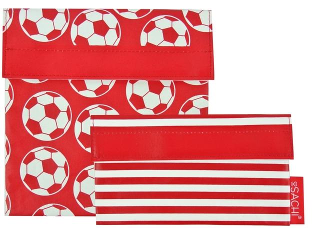 Sachi Reusable Lunch Pocket Set - Soccer Ball
