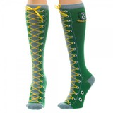 Harry Potter Slytherin Faux Lace Up Knee High Socks