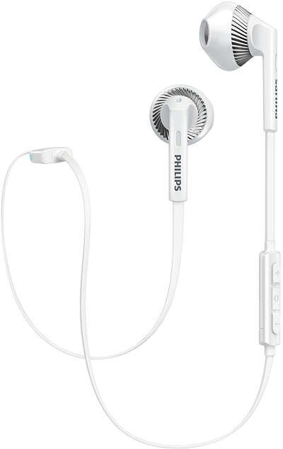 Philips Earbud Bluetooth Headphones - White image
