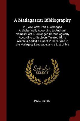 A Madagascar Bibliography by James Sibree image