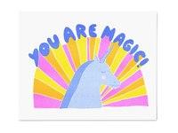 Yellow Owl: Risograph Art Print - You Are Magic