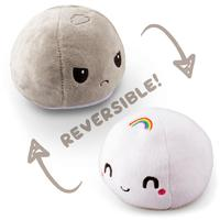TeeTurtle: Reversible Mini Plush - Rainbow Mochi (Stormcloud/Rainbow)