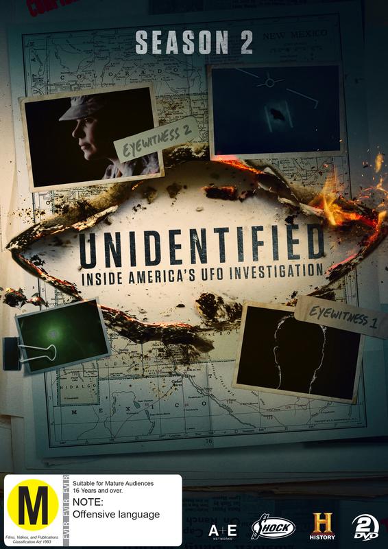 Unidentified: Inside America's UFO Investigation: Season 2 on DVD