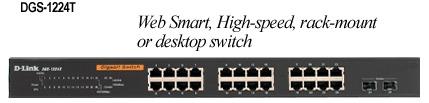 D-Link Web Smart 24-Port 10/100/1000+2 Combo SFP Switch