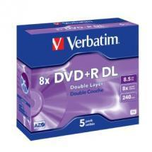 Verbatim DVD+R DL 8.5GB 5Pk Jewel Case 8x