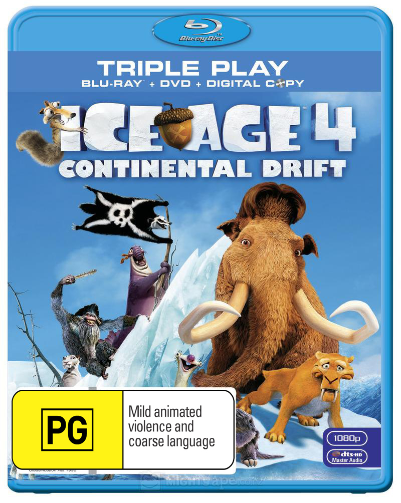 Ice Age 4: Continental Drift on DVD, Blu-ray image