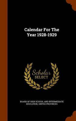 Calendar for the Year 1928-1929 image