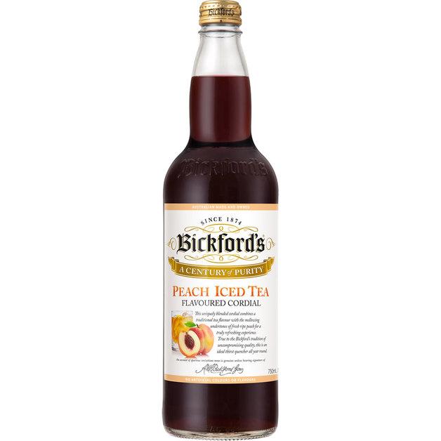 Bickfords Premium Cordial - Peach Iced Tea (750ml)