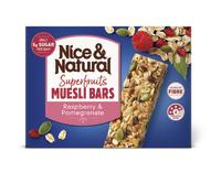 Nice & Natural: Superfruits Muesli Bar - Raspberry & Pomegrante (180g)