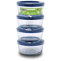 Round Containers With Lids - 8 Piece Value Pack (1 Cup)