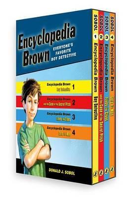 Encyclopedia Brown 4 Volume Boxed Set by Donald J Sobol