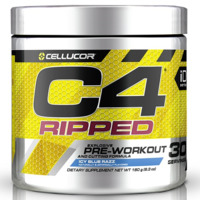 Cellucor C4 Ripped Pre-Workout - Icy Blue Razz (30 Serve)
