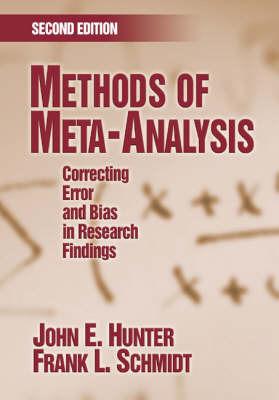 Methods of Meta-Analysis by John E Hunter image