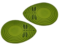 Teaology: Cast Iron Coasters - Green Dragonfly (Set of 2)